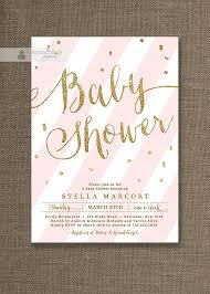 best pink and gold baby shower invitations to create your own baby