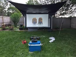 Backyard Movie Night Customer Photos Despicable Setup Backyard Movie Nightvisual Apex