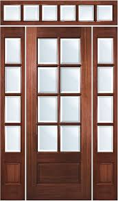Solid Mahogany Exterior Doors True Divided Lite 8 Lite Mahogany Entry Door With Sidelites And