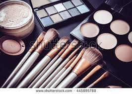 professional makeup artist tools professional makeup brushes tools makeup products stock photo