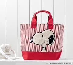 Snoopy Rug Snoopy Sleepover Tote Pottery Barn Kids
