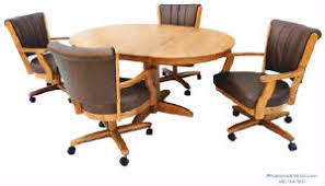 Dining Table And Chairs On Wheels Build Your Own Set Swivel Tilt Caster Dining Chairs