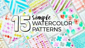 15 simple watercolor patterns to paint sea lemon youtube