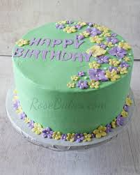 Tropical Themed Cake - tropical flowers pastel birthday cake rose bakes