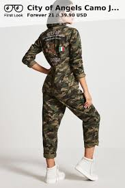 army pattern crop top city of angels camo jumpsuit from f21 39 90 usd camo angel and 21st