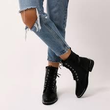 black biker boots aphex studded biker boots in black public desire us