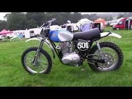 triumph motocross bike classic dirt bikes 1967 500 cotton triumph youtube