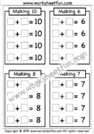 making 6 7 8 u0026 10 u2013 one worksheet free printable worksheets