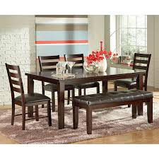steve silver harlow 7 piece dining table set tobacco cherry