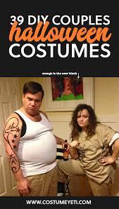 Orange Black Halloween Costumes 39 Diy Couples Halloween Costumes