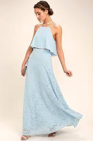 light blue halter maxi dress stunning light blue two piece dress lace two piece dress two