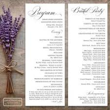 formal wedding programs spice up the traditional wedding ceremony program with some clever