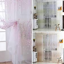 wintersweet pattern half shading curtain for door window room