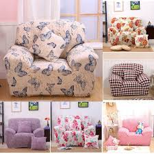 Sofa Protector Two Seater Textile Spandex Strench Flexible Printed Elastic Sofa