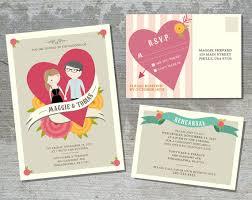 invitation card cartoon design wedding invitation suite custom cartoon printable design