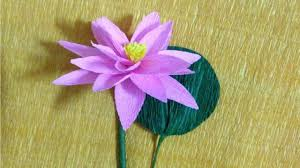 how to make lotus crepe paper flowers flower making of crepe