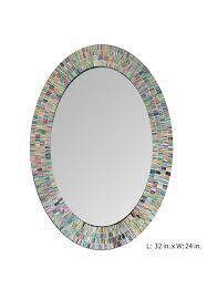 Bohemian Rainbow Rhapsody Wall Mirror Glass Mosaic Decorative