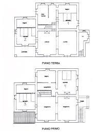 piano floor plan luxury villa in tuscany