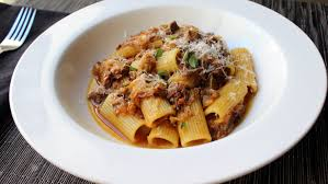 pasta alla genovese rigatoni with genovese style meat sauce