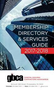 Bianchini E Capponi by Gbca Membership Directory 2017 2018 By General Building