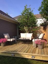 Backyard Rooms Ideas by Best 25 Platform Deck Ideas On Pinterest Low Deck Designs Low