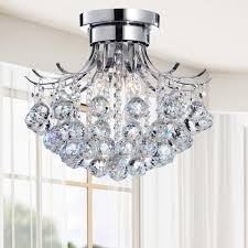 Chandeliers Overstock Indoor 3 Light Chrome Crystal Chandelier Overstock Shopping