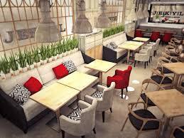 fancy modern restaurant furniture set and decor furniture ideas
