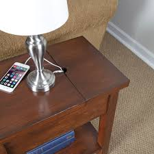 Nightstand With Charging Station by The Device Charging End Table Hammacher Schlemmer