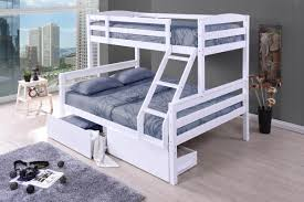 Cosmos White Duo Double Single Bunk Beds With Drawers - Single bunk beds