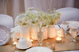 Wedding Centerpieces Using Mason Jars by A Prince Edward Island Rustic Pink And White Wedding Babies
