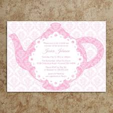 tea party bridal shower invitations tea party bridal shower invitation wording belcantofour