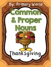 thanksgiving common and proper noun print and go includes interactives
