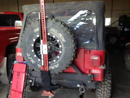 jeep tailgate storage redrock 4x4 wrangler extreme recovery jack spare tire mount