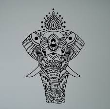 online get cheap india wall murals aliexpress com alibaba group indian elephant mandala wall sticker asian home interior ethnic yoga pattern vinyl decal peaceful ornament india culture mural