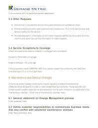 Help Desk Service Level Agreement Service Level Agreement Template