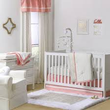 Pink And Gold Nursery Bedding Confetti Coral Crib Starter Set In Coral U0026 Gold