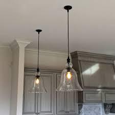 Kitchen Lighting Pendants Attractive Kitchen Light Pendants Glass With Yellow Fluorescent