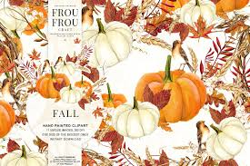 Fall Autumn by Watercolor Fall Autumn Clipart Illustrations Creative Market