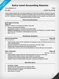 entry level resume exles and writing tips entry level accounting resume exles exles of resumes