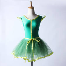 green spandex competition professional tutu skirt leotards girls