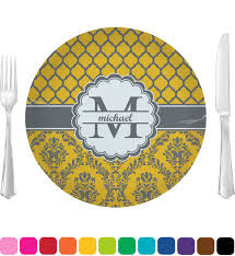 personalized baby plate damask moroccan dinner plate personalized baby n toddler