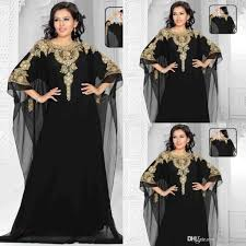 dubai evening gowns 2017 chiffon gold and blackcrystals beaded
