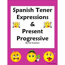 tener expressions and present progressive worksheet