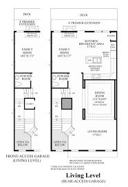 ravenscliff at media townhomes the bradbury home design living level floor plan