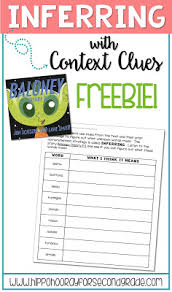 inferring and context clues freebie hippo hooray for second grade