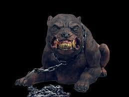 halloween prop mad dog haunted house animatronic haunting