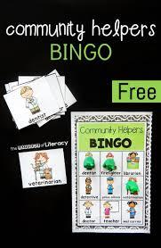 community helpers bingo the letters of literacy