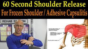 Great Shoulder - 60 second shoulder release for frozen shoulder adhesive