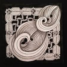 zentangle pattern trio tickled to tangle it s a string thing 43 tiles zentangle 3d