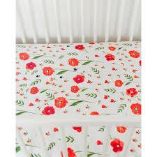 Muslin Crib Bedding Unicorn Summer Poppy Cotton Muslin Crib Sheet Tiny Crane